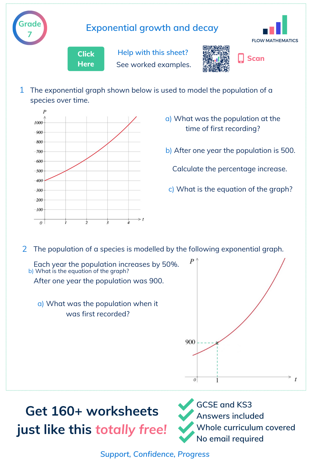 Exponential Growth Worksheet Answers - worksheet