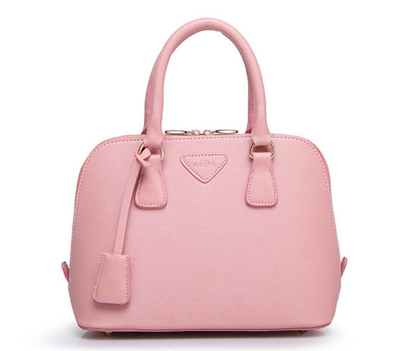 Prinkko Pretty Solid Pink Color PU Bag For Ladies