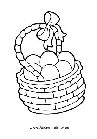 Ausmalbild Ostereier Im Korb Zum Ausmalen Ausmalbilder Malvorlagen Ostern Osterhase Kindergarten Ausmalbilder Ostern Ausmalbilder Ostern Bilder