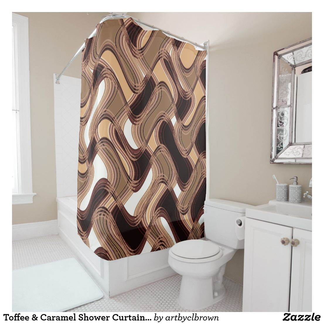Toffee Caramel Shower Curtain By C L Brown Zazzle Com