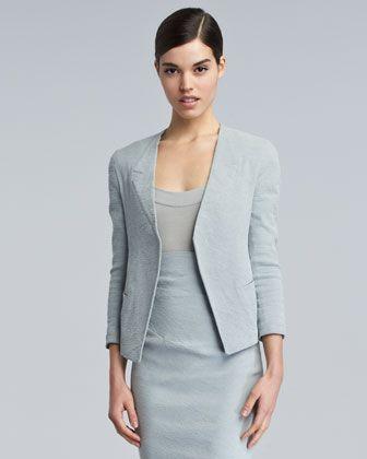 Trompe L\'Oeil-Collar Jacket by Donna Karan at Bergdorf Goodman.