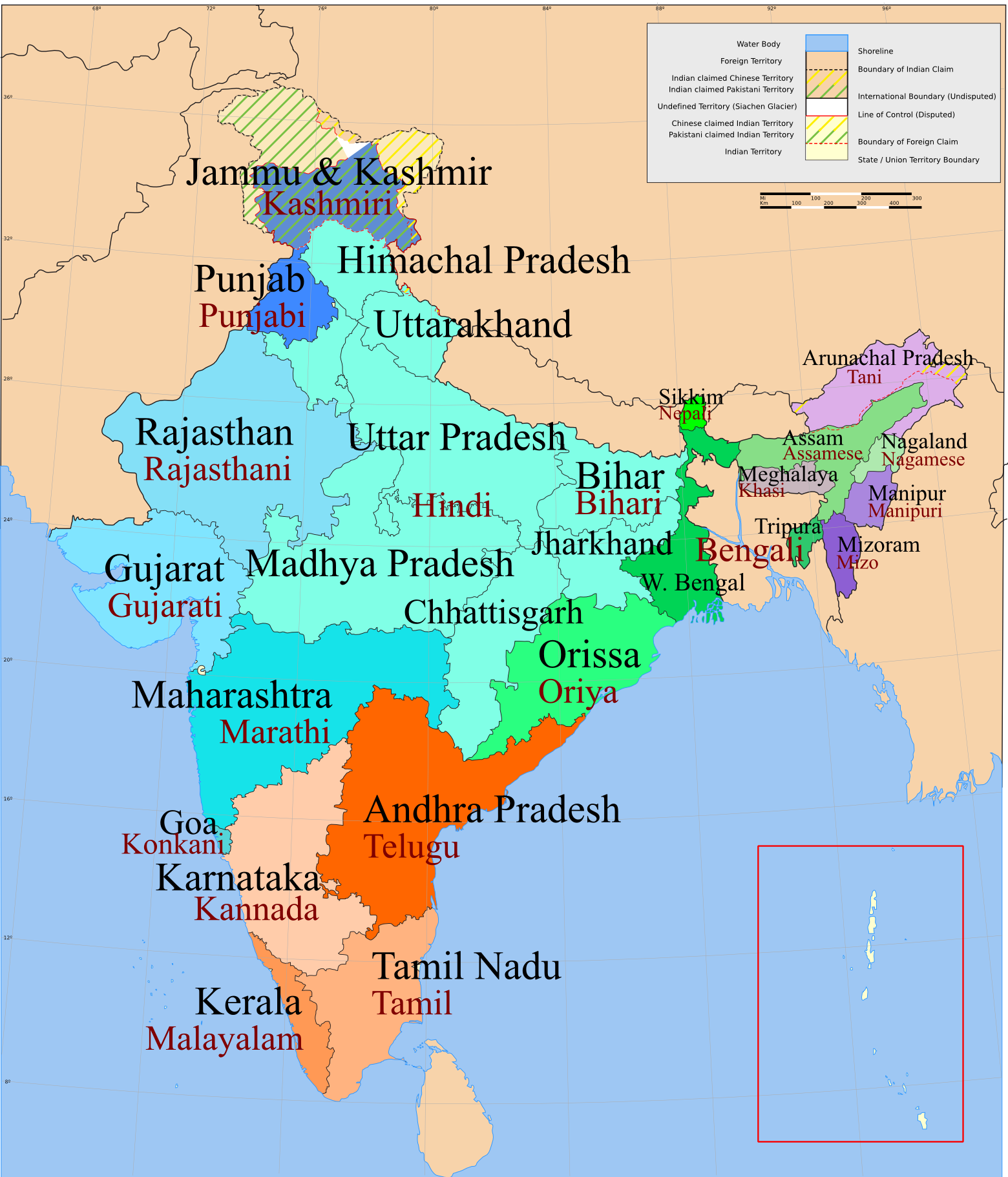 India Map With States And Languages Google Search Random India