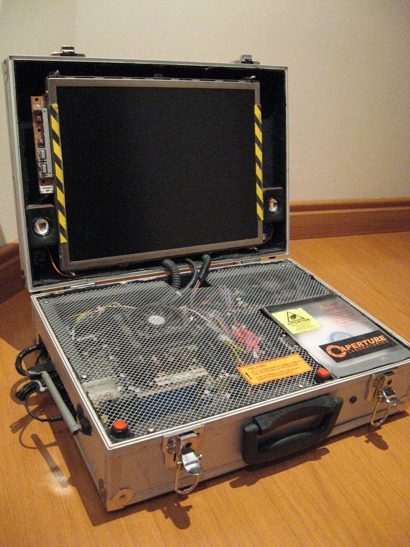 Turn a desktop computer into portable computer mods pinterest homemade wooden pc case pesquisa google solutioingenieria Choice Image