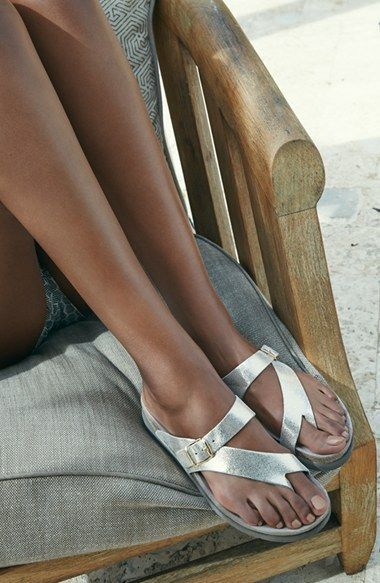 9cf6e8aeab Mephisto 'Helen' Sandal (Women) | Nordstrom Would prefer a back strap on  them, not just slip on!