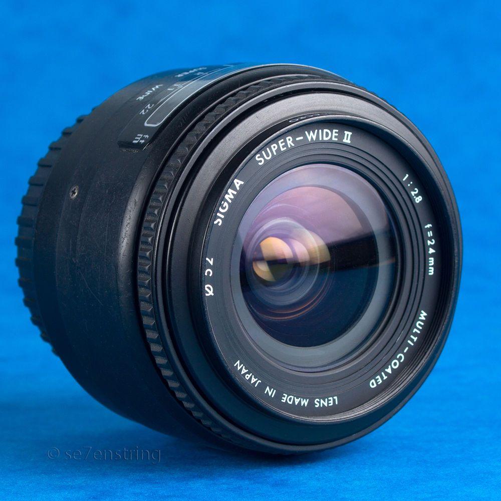 Sigma 24mm F2 8 Af Super Wide Ii Wide Angle Prime Lens For Canon Ef Eos Read Vintage Lenses Cameras For Sale Camera Photography