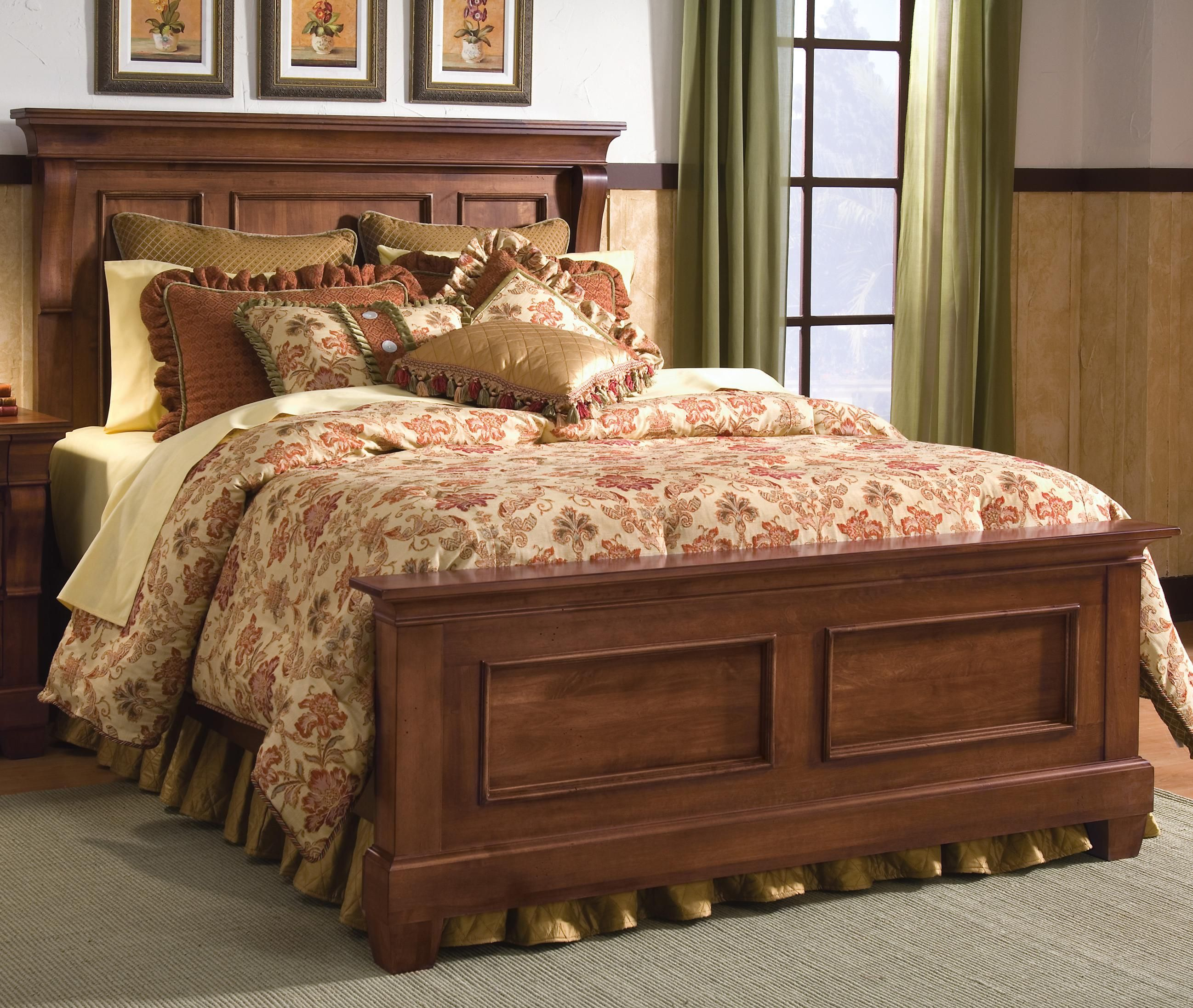 Tuscan Style Tuscano Queen Panel Bed By Kincaid Furniture Tuscandecor Bedroomfurniture
