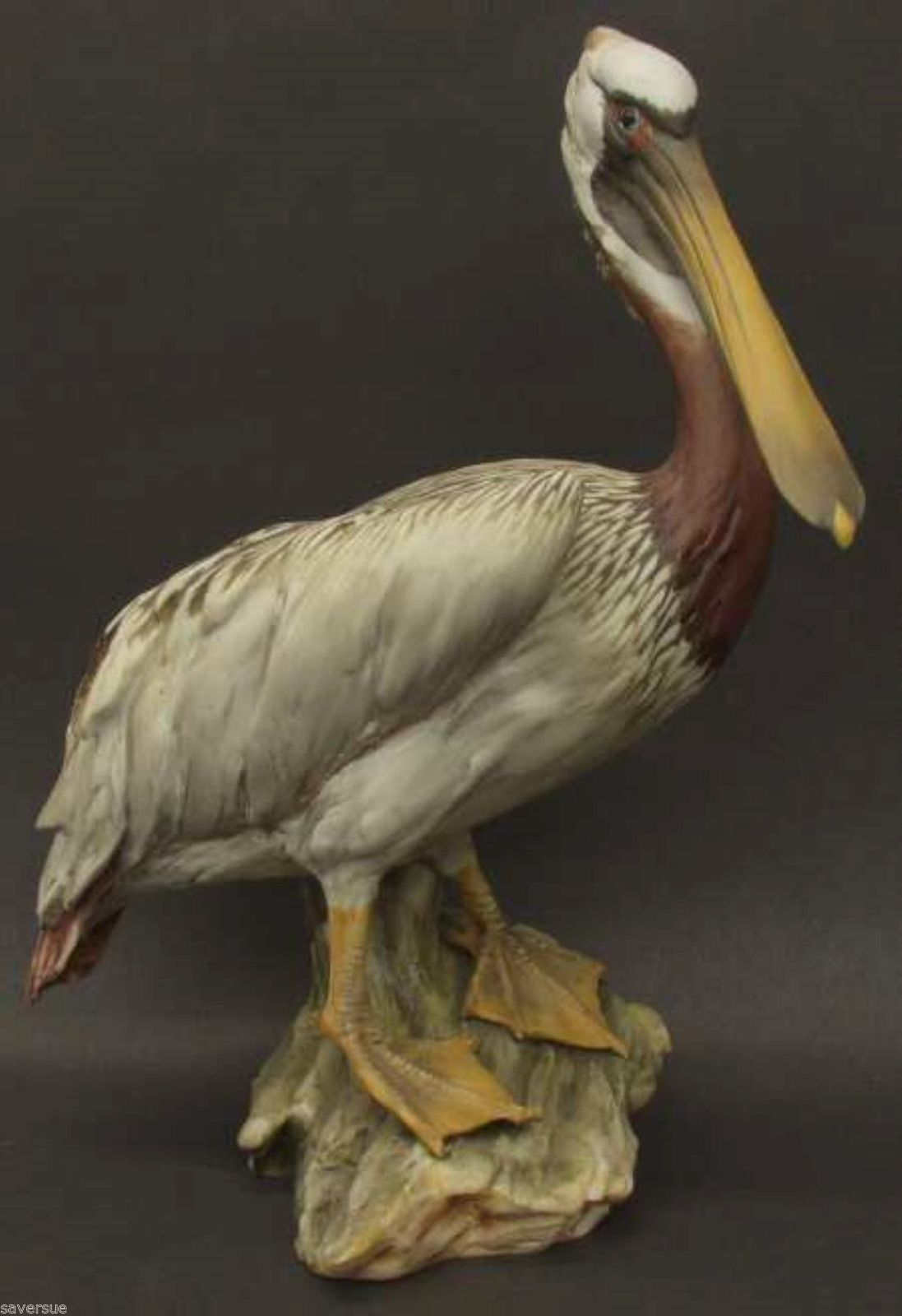 porcelain brown pelican colored bisque no box