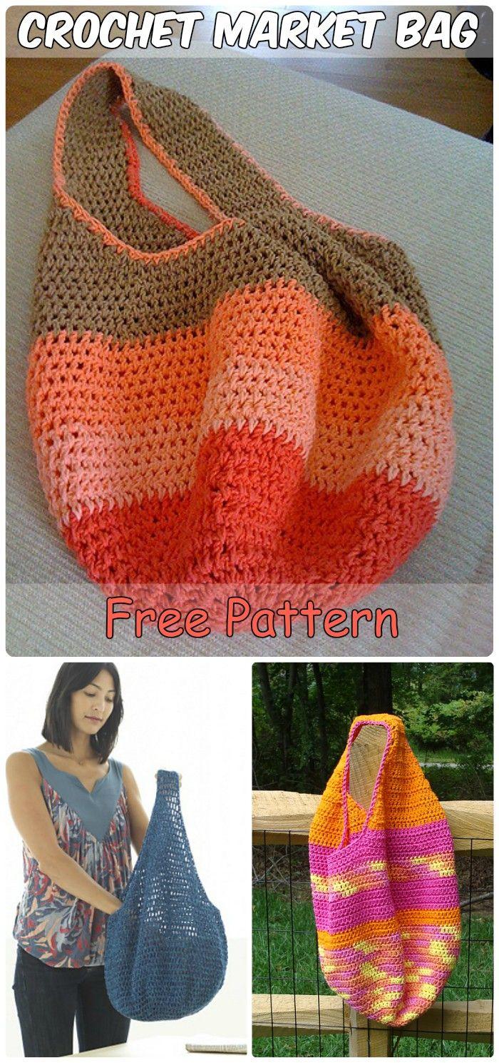 7 Brilliant Crochet Tote Grocery Bags Ideas Free Patterns   Crochet ...