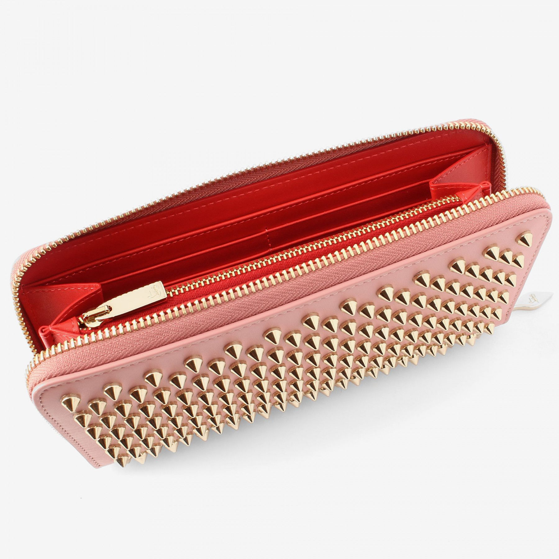 Outlet Professional Panettone bordeaux spikes wallet Christian Louboutin Best Prices Cheap Online Outlet Looking For Affordable Sale Online i9SgSG