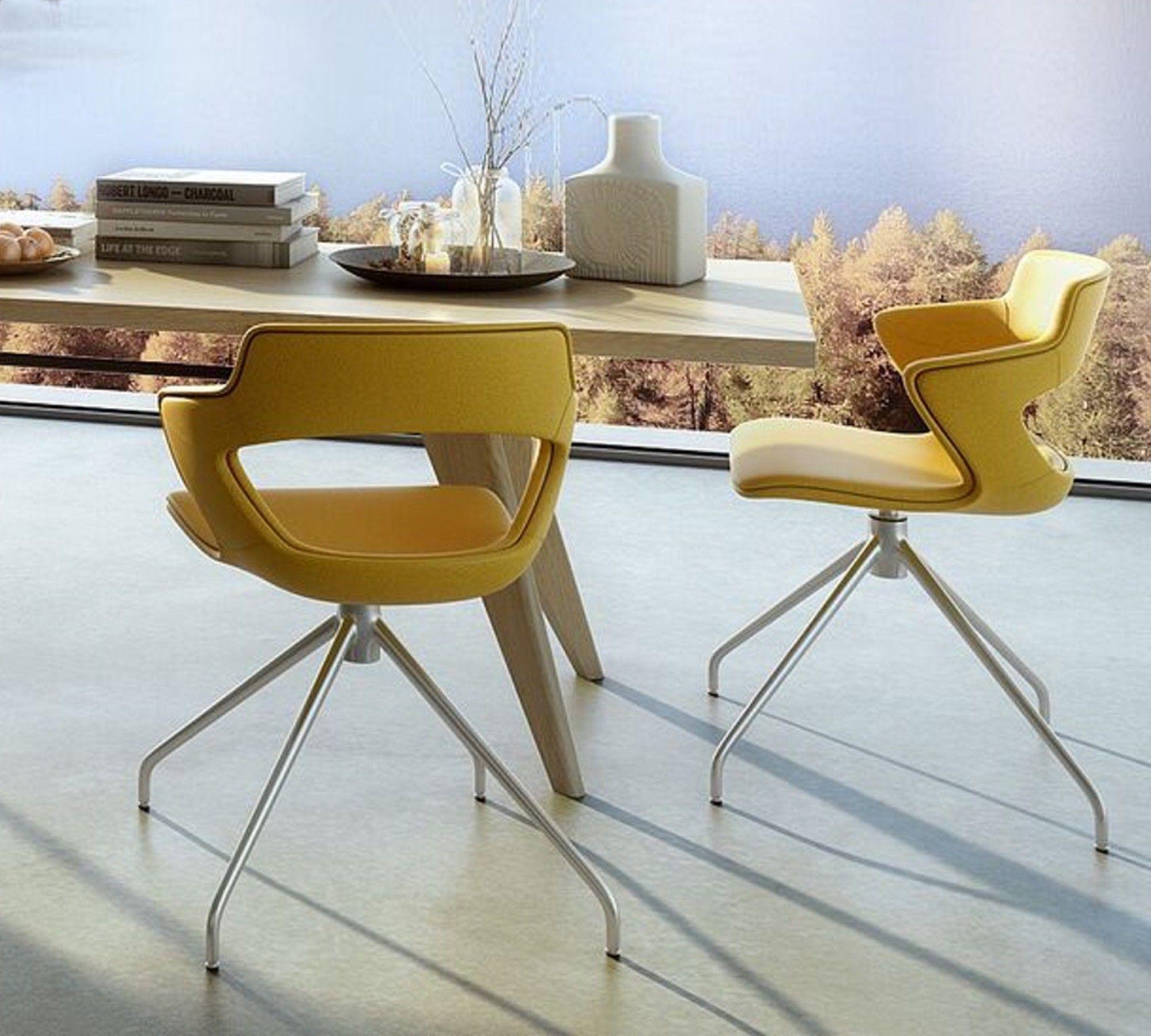 Drehstuhl esszimmer elegant stuhlsystem baldwin with for Designer drehstuhl esszimmer