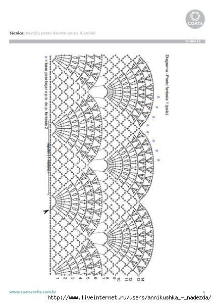 crochet maglietta a ventagli grafico 2