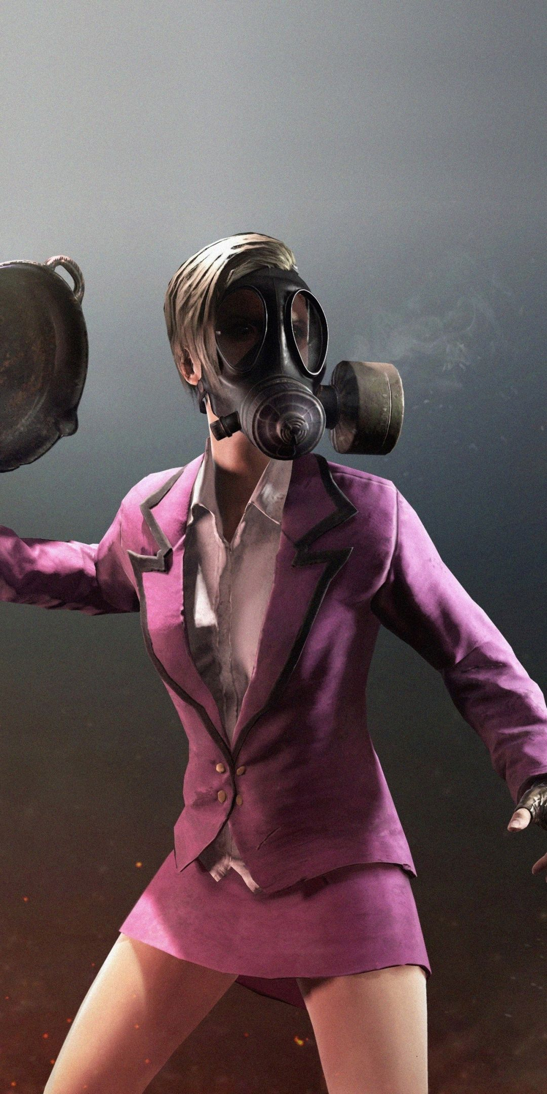 Pubg Battle Royale Woman In Gas Mask Mobile Game 1080x2160