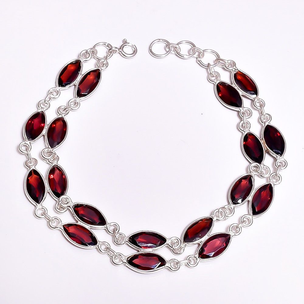 sterling silver jewelry christmas natural cut mosambique garnet