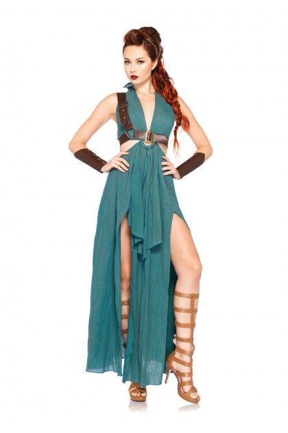 4 PC Warrior Maiden Costume