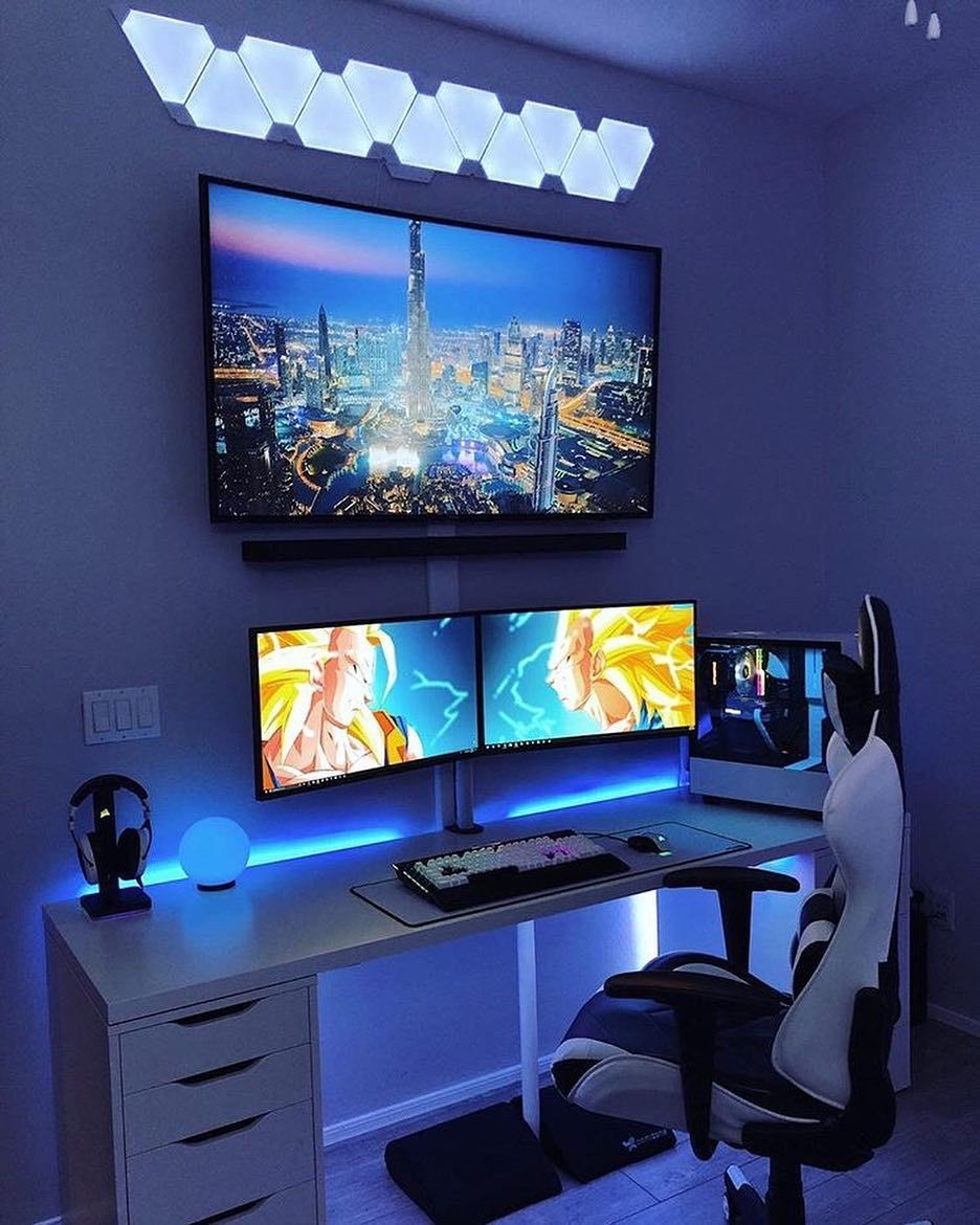 Pin By Nono Vancopp On Gaming Forever Bedroom Setup Gaming Room Setup Room Setup