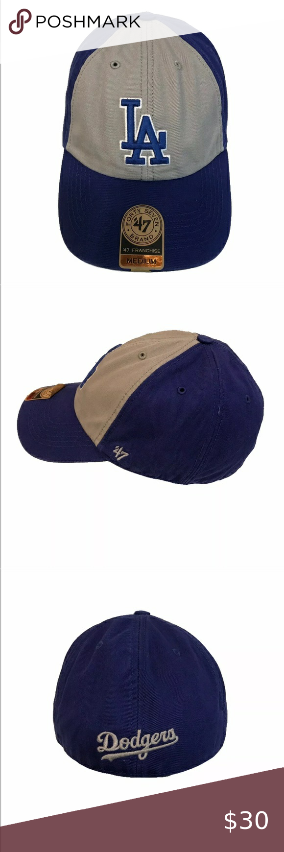 La Dodgers 47 Franchise Vip Relaxed M Fitted Cap Fitted Caps La Dodgers 47 Brand