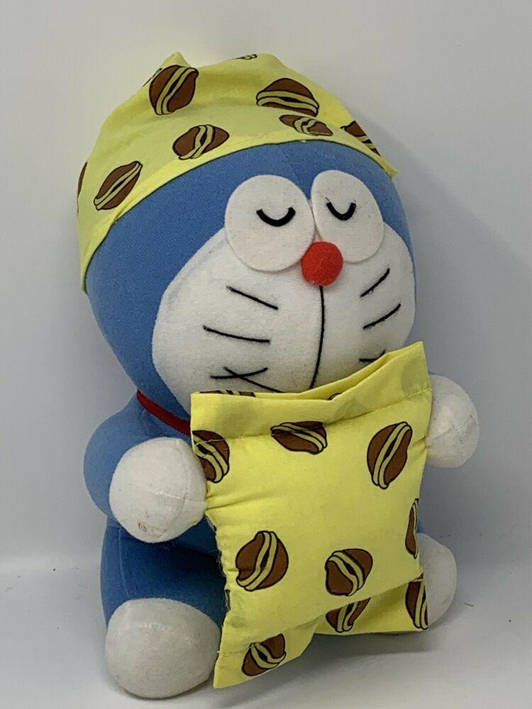 Plush Japan Sleeping Doraemon Mochi Dorayaki Cap & Pillow 10