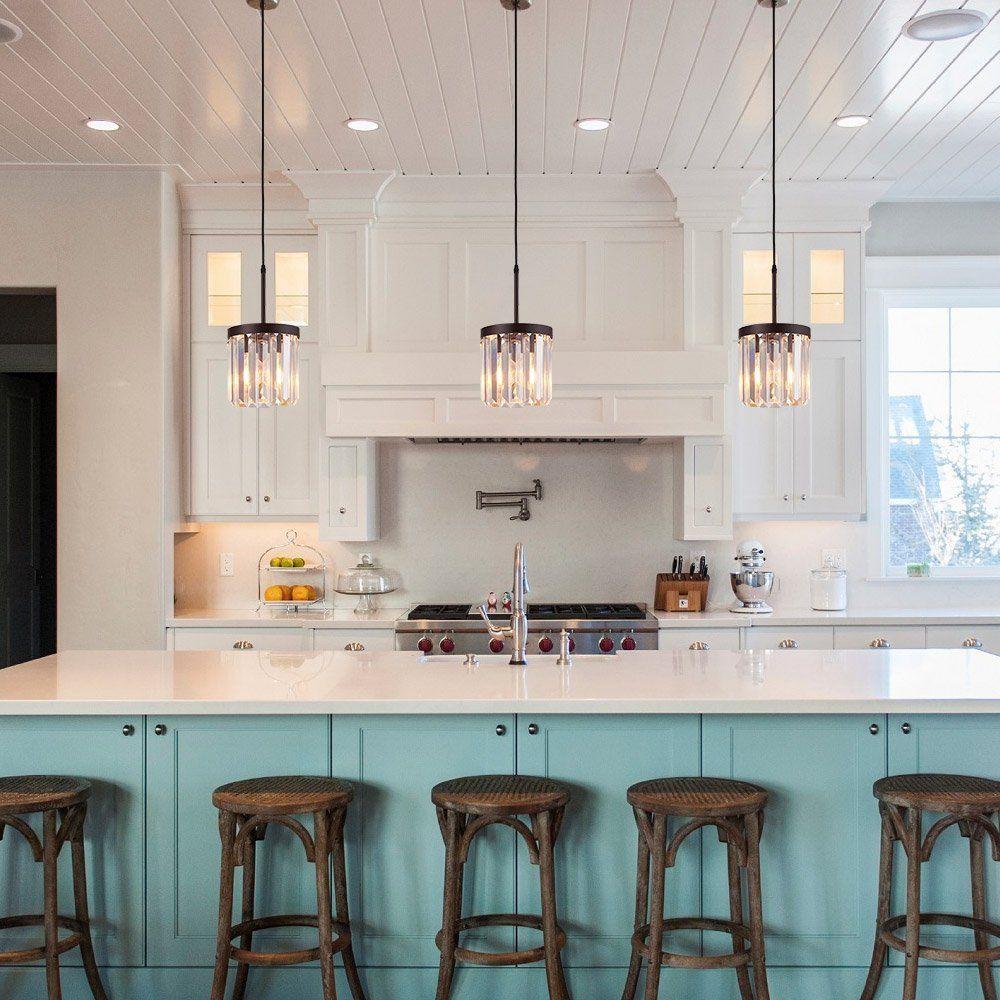 crystal pendant lighting for kitchen # 7