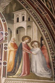 As does the woman to the right in this late 1320s painting by Taddeo Gaddi: