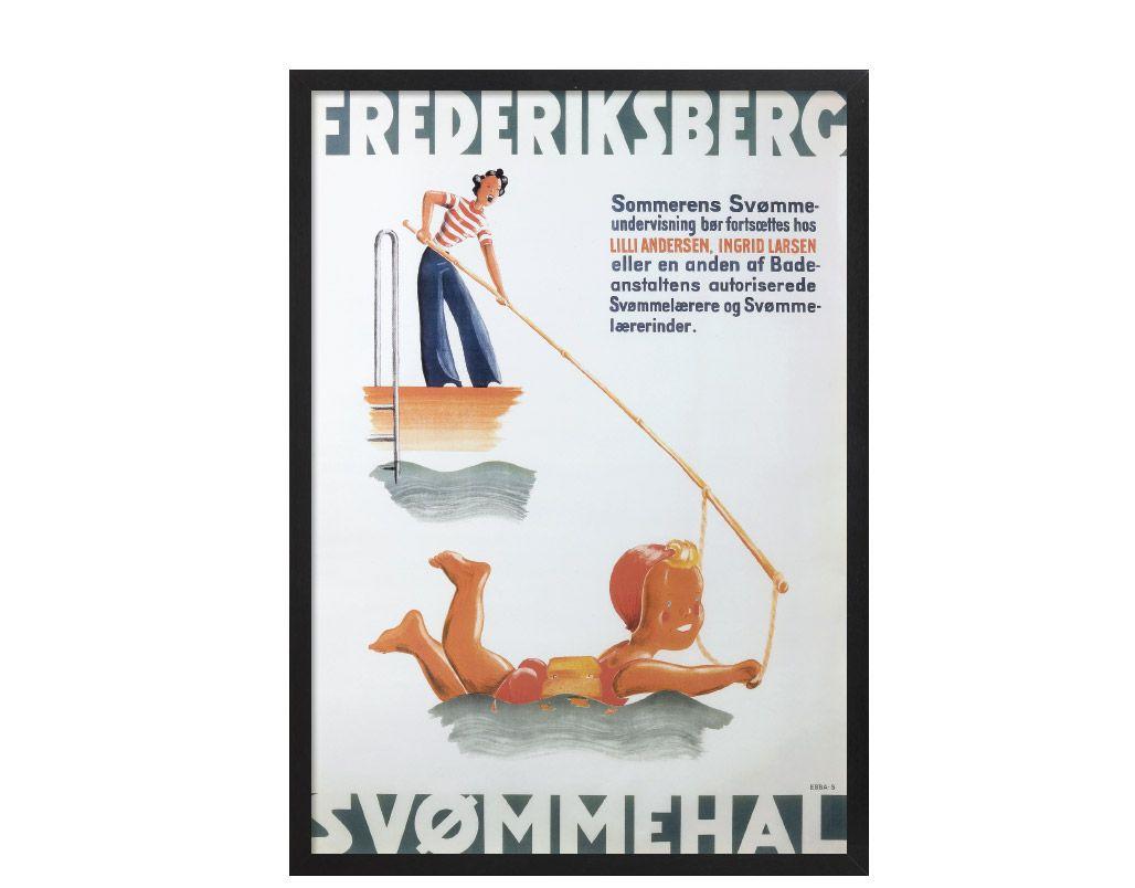 E.B. Smith - FRB Svømmehal Svømning   hos Plakatgalleri.dk