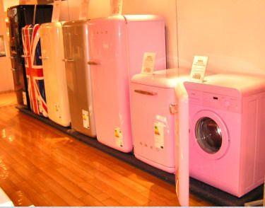 Pink Fridge Washer And Dryer By Smeg By Glamfiles Via Flickr Pink Fridge Vintage House Cute House