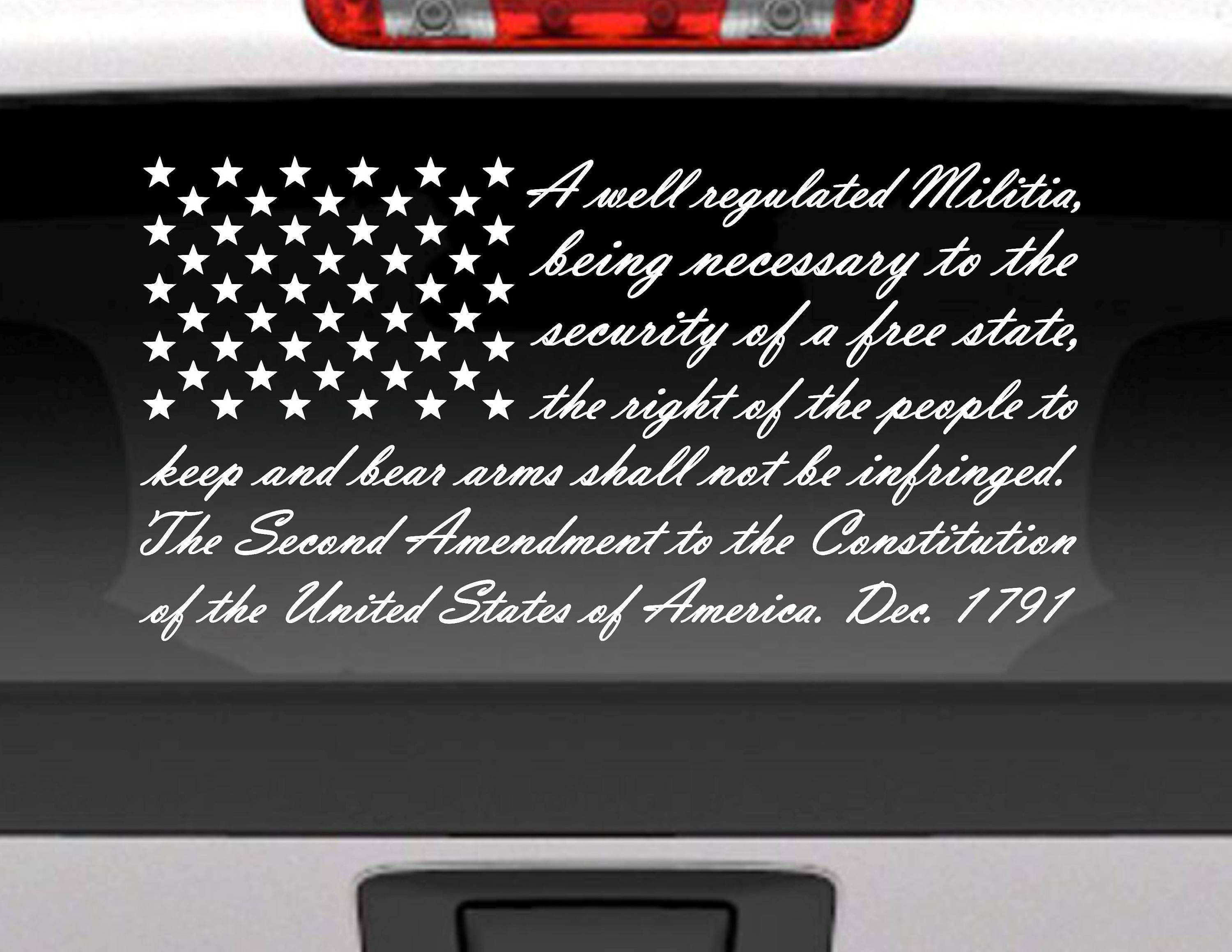Second Amendment American Flag Vinyl Decal Sticker For Cars Trucks And More Vinyl Window Decals Vinyl Decal Stickers Vinyl Decals