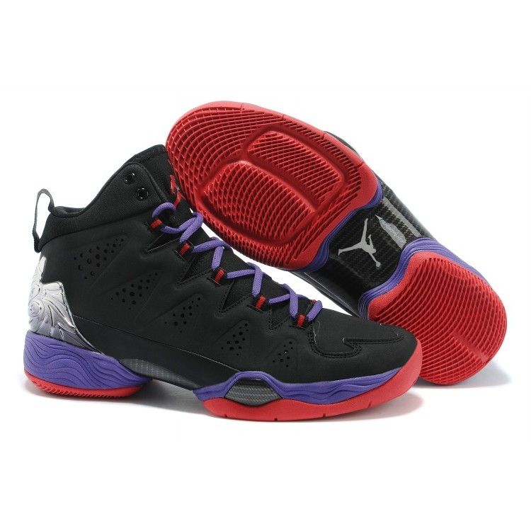Nike Air Jordans- Air Jordan Melo M10 Black Blue Gym Red 2014