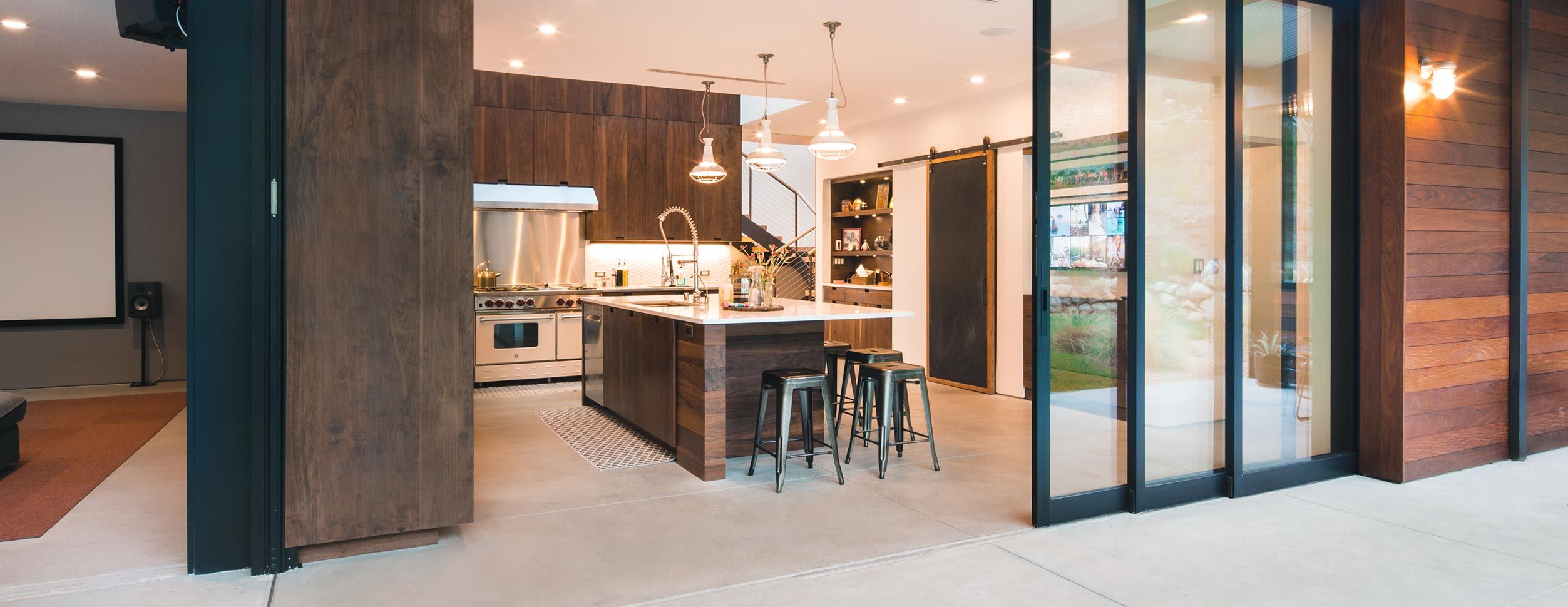 Western Windows Multi Sliding Pocket Door As Featured In This
