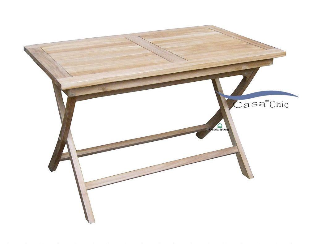 Offerte Tavoli Da Giardino In Teak.Dettagli Su Tavolo Da Giardino Pieghevole 120x70 In Legno Teak