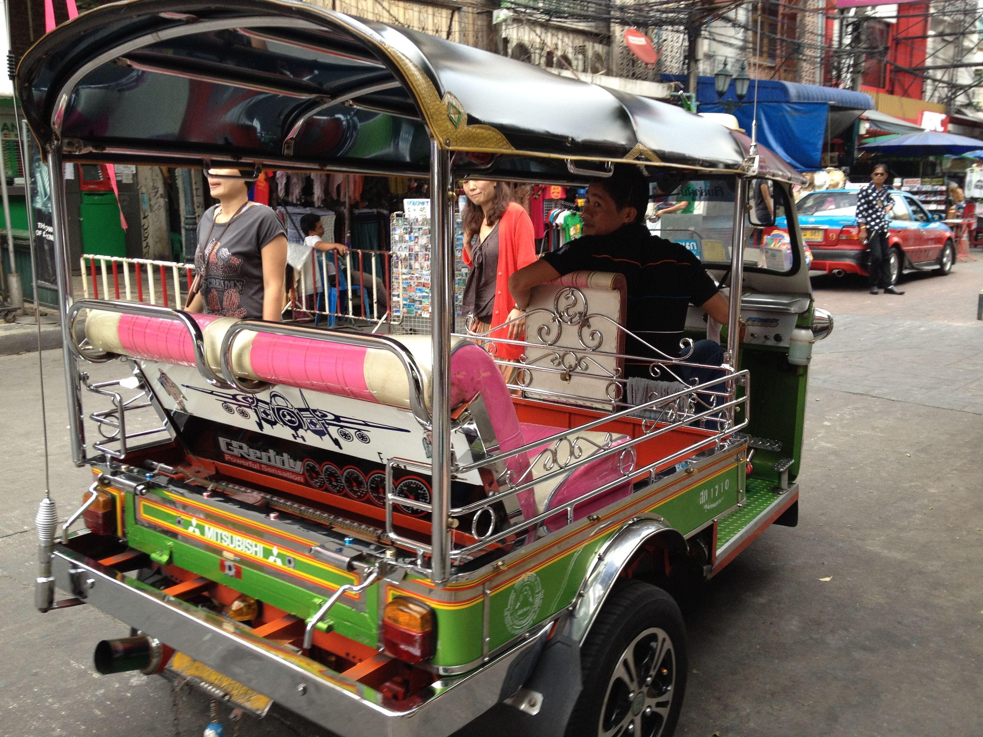 Tuk tuk on Khao San Road, Bangkok, Thailand