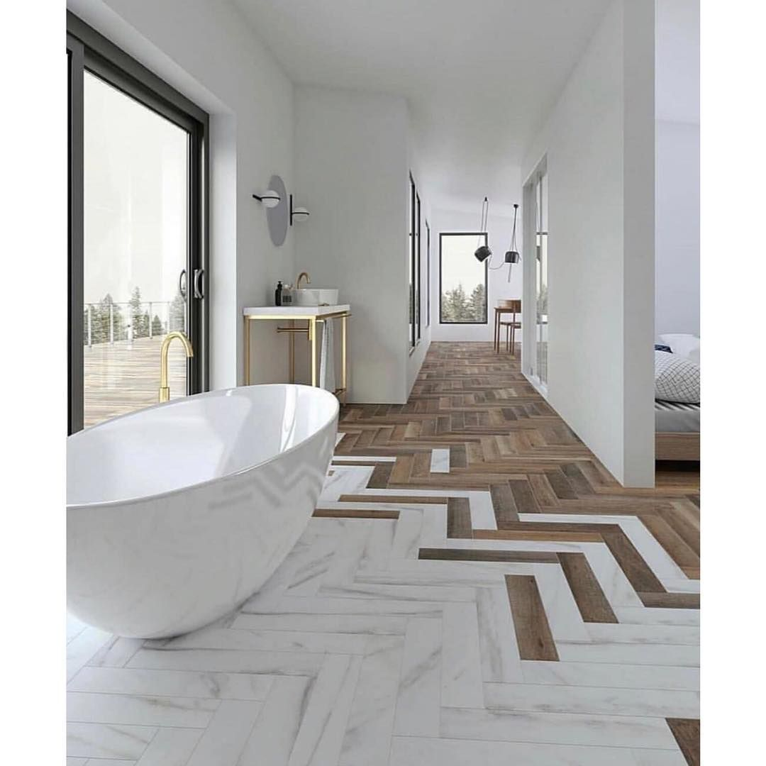 How Perfect Is This Floor Image Via Bathroomdesign How Perfect Is This Floor Repost Thetmrw Beautiful Bathrooms Modern Bathroom Design Floor Design