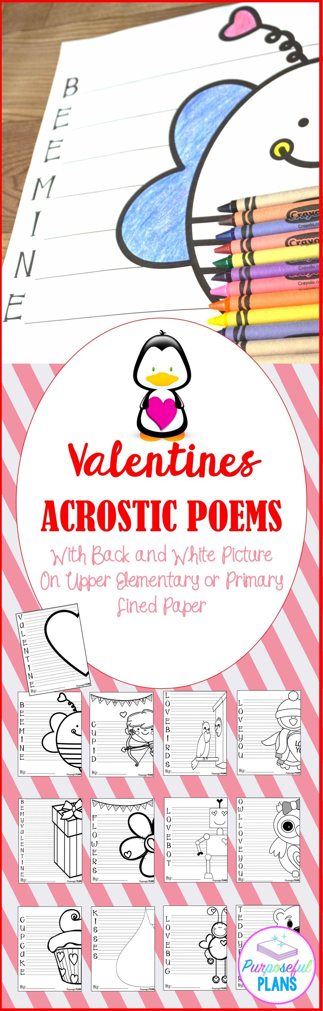 Valentine S Day Acrostic Poems