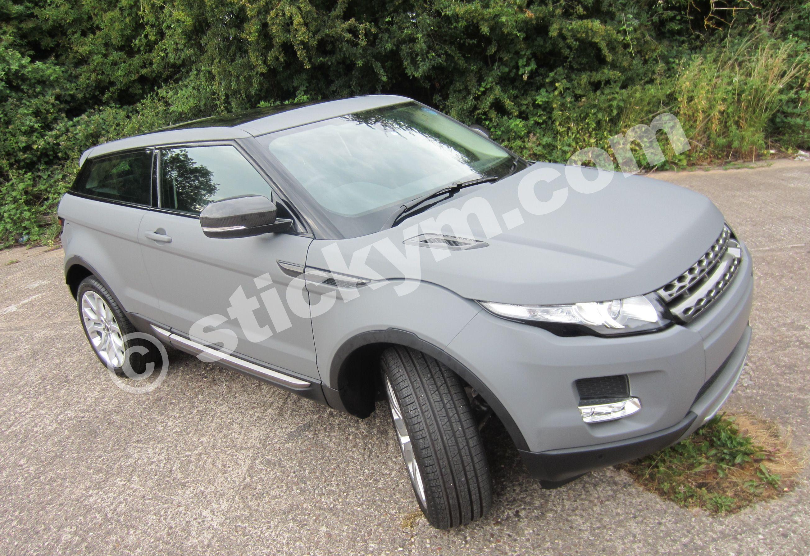 Full Matt Grey Wrap Of A Land Rover Evoque Land Rover Range Rover Evoque Car Wrap