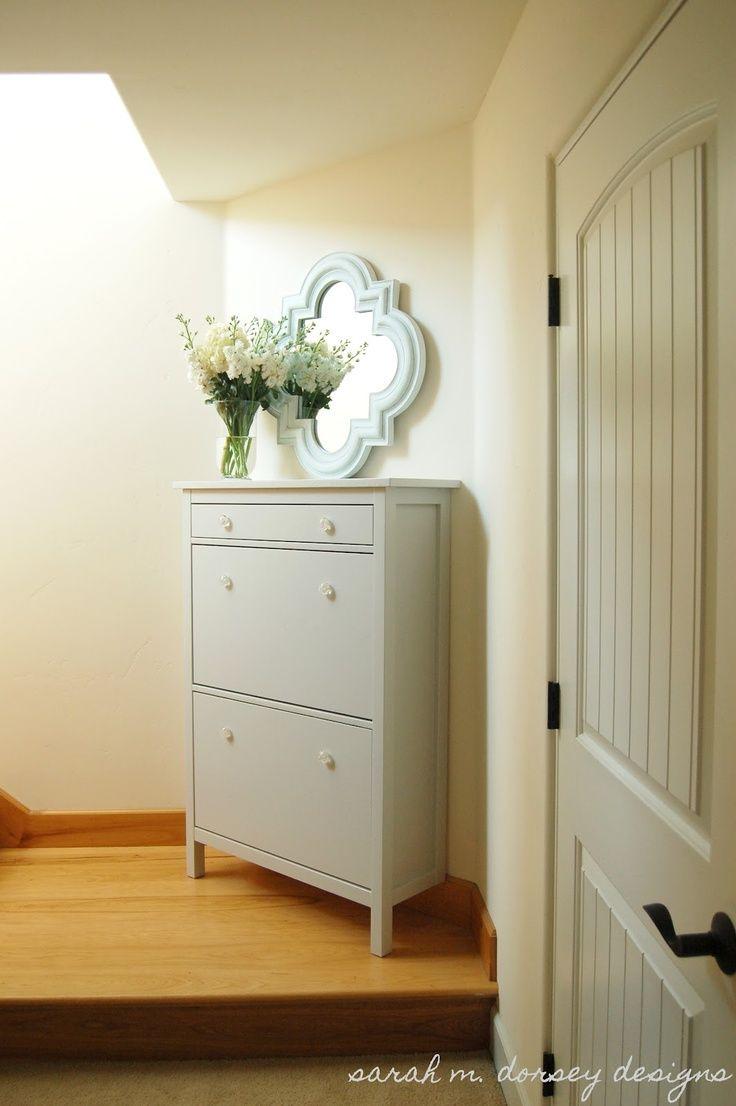 Ikea hemnes shoe cabinet renovation entry way for Ikea entry cabinet