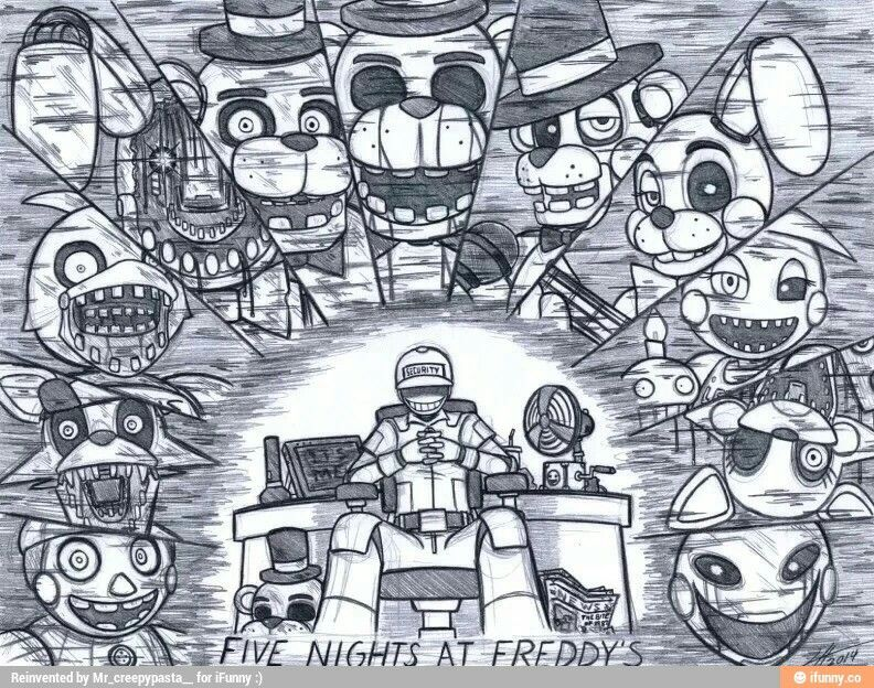 Pin By Kenchy Kitsune On Five Nights At Freddy S Five Nights At Freddy S Fnaf Fnaf Drawings