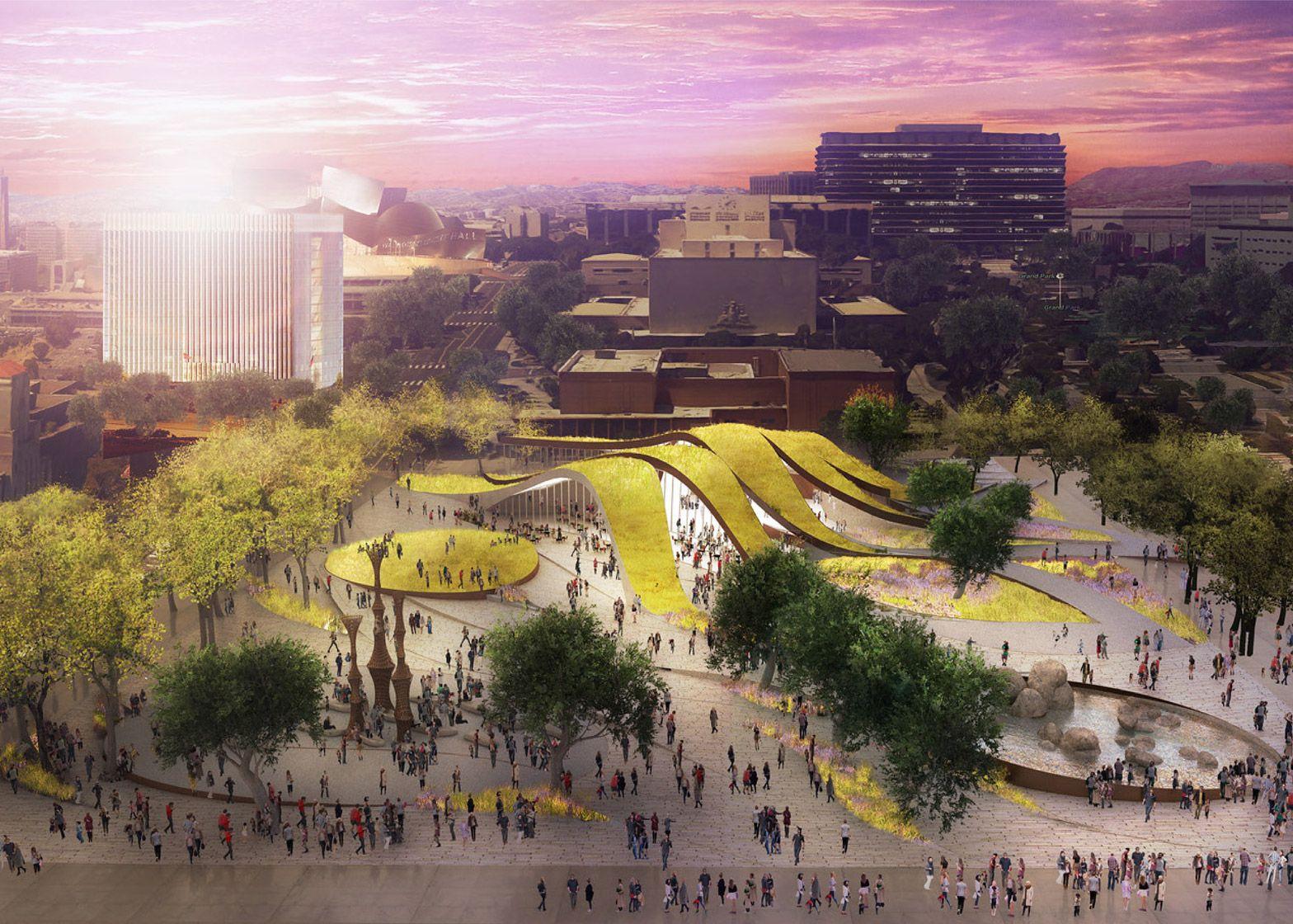 Brooks Scarpa Architects Fab Civic Center Park Los Angeles