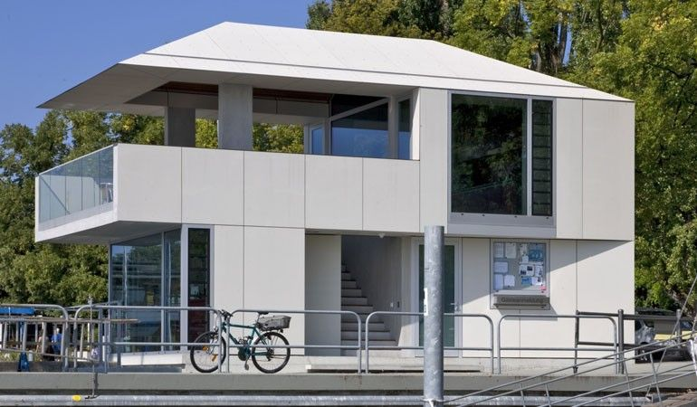 EQUITONE facade materials. Harbour house, Friedrichshafen, Germany. Hirthe Architekt BDA. www.equitone.com #architecture #material #facade