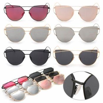 61181d82c94 Fashion Women Sunglasses Metal Frame Mirror Big Lens nbsp Eyewear Shades  Glasses