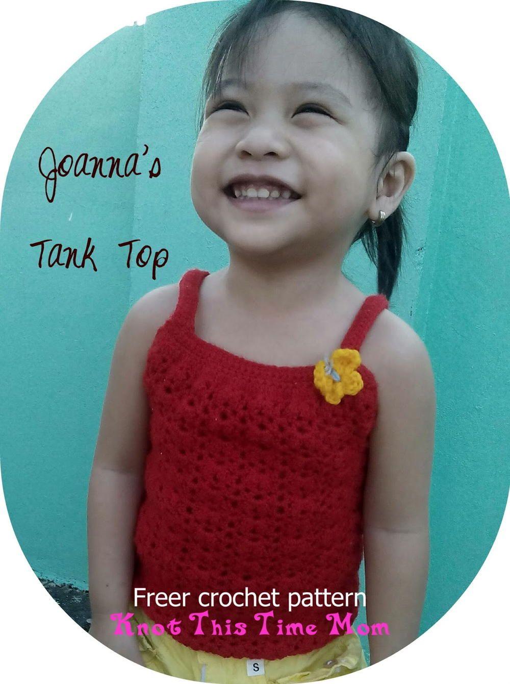 Joannas Crochet Tank Top Crochet Kids Crochet Crochet Patterns