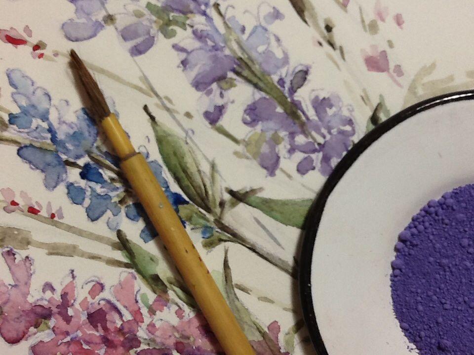 Simple beauty-Carolina d'ayla Valva-painted textiiles