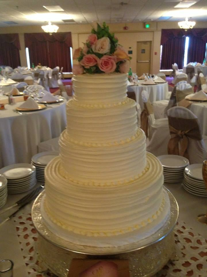 Wedding Cake Is Italian Cream With A Cheese Frosting We Will Have Flowers Along The Sides Not Quite Sure About Topper