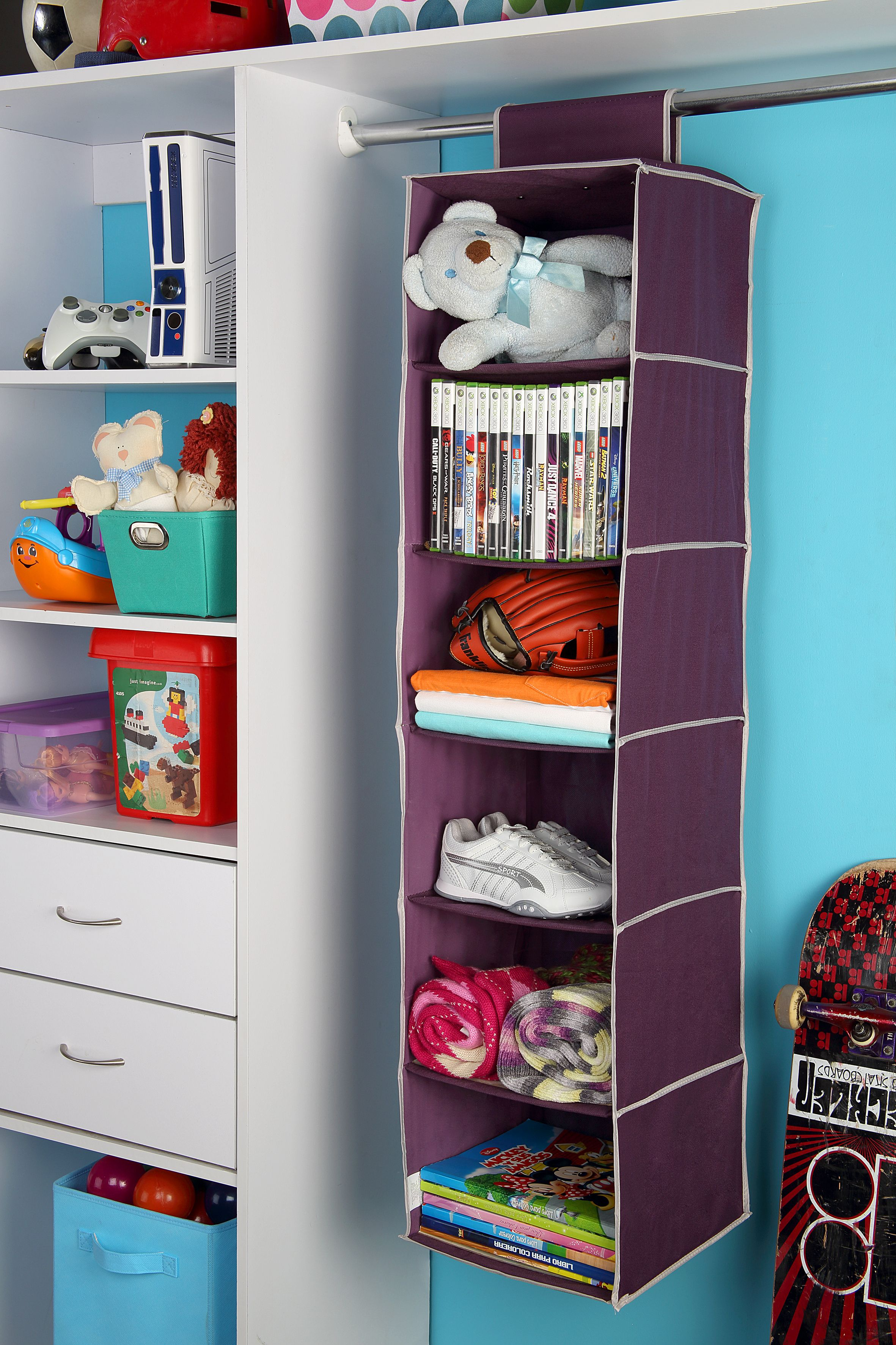 Organizador ropa y zapatos 3 niveles cl set for Organizadores para closet
