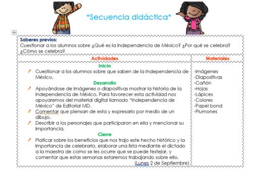 Ejemplo De La Situacion Didactica De Preescolar Del Mes De Septiembre Situaciones Didacticas Para Preescolar Preescolar Nuevo Modelo Educativo