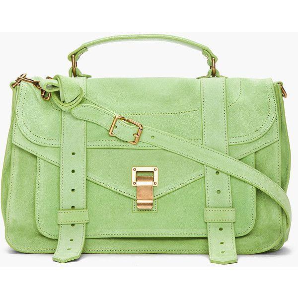 992cc25d46 PROENZA SCHOULER Jade Suede Foldover Ps1 Messenger Bag ( 1