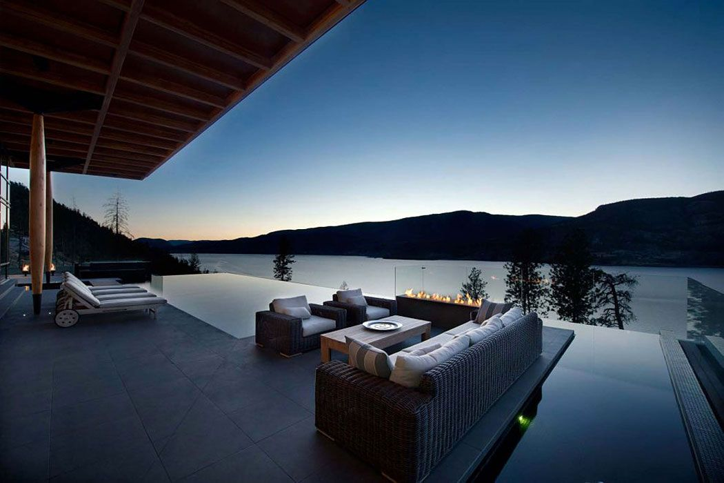 Lake Views Deck Pool Exceptional Hillside Home Overlooking