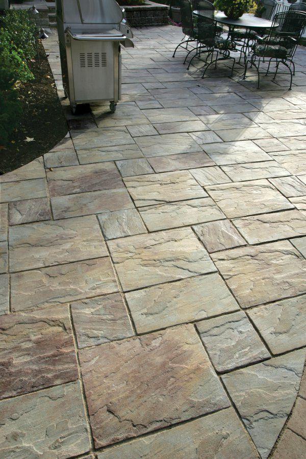 Unilock patio closeup with Rivenstone paver | Patio pavers ... on Unilock Patio Ideas id=43475