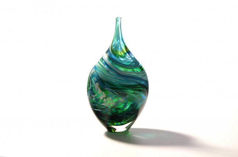 Richard Glass - Blue Green Merge Bottle