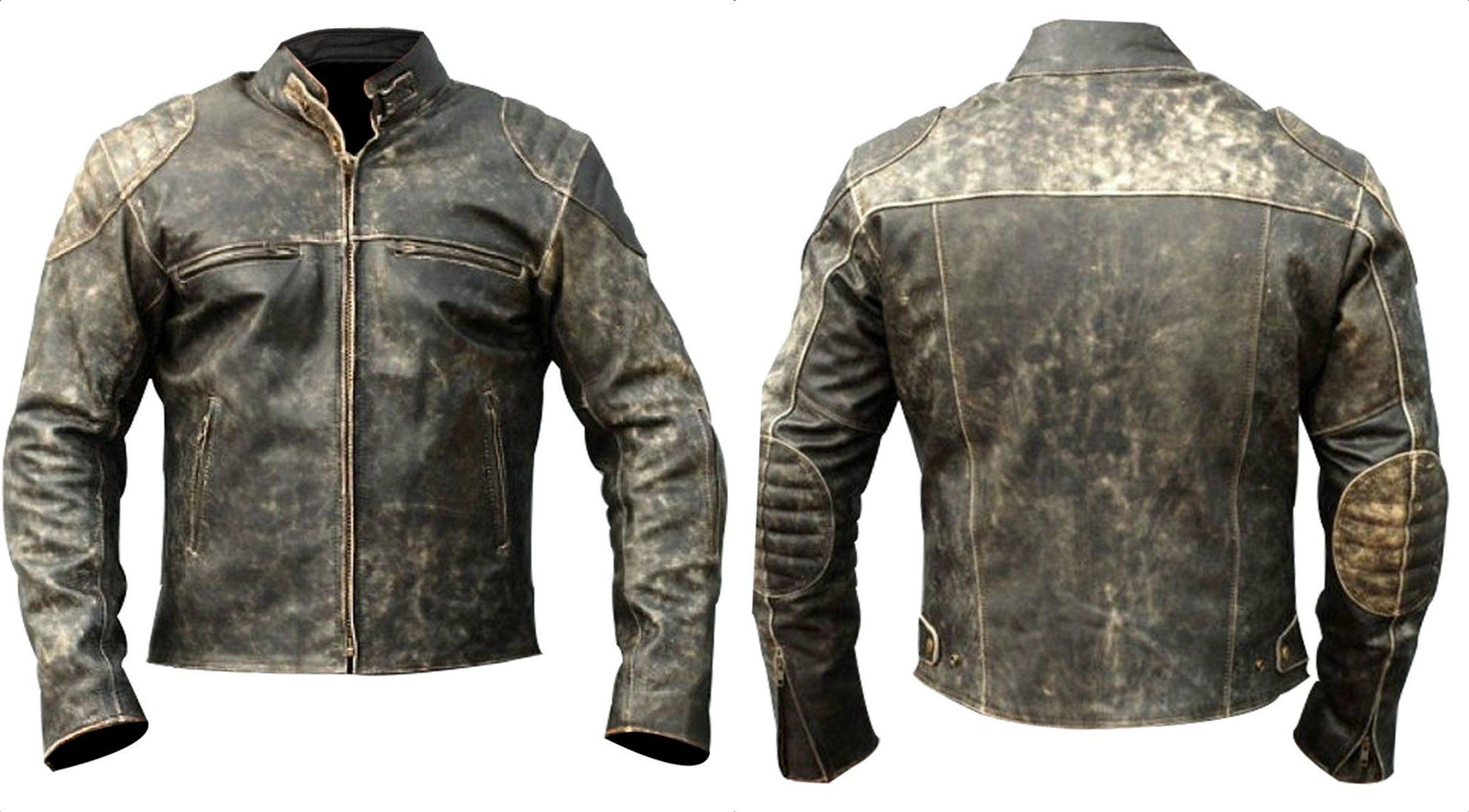 Antique Black Vintage Distressed Retro Leather Jacket Leather Jacket Vintage Biker Retro Motorcycle