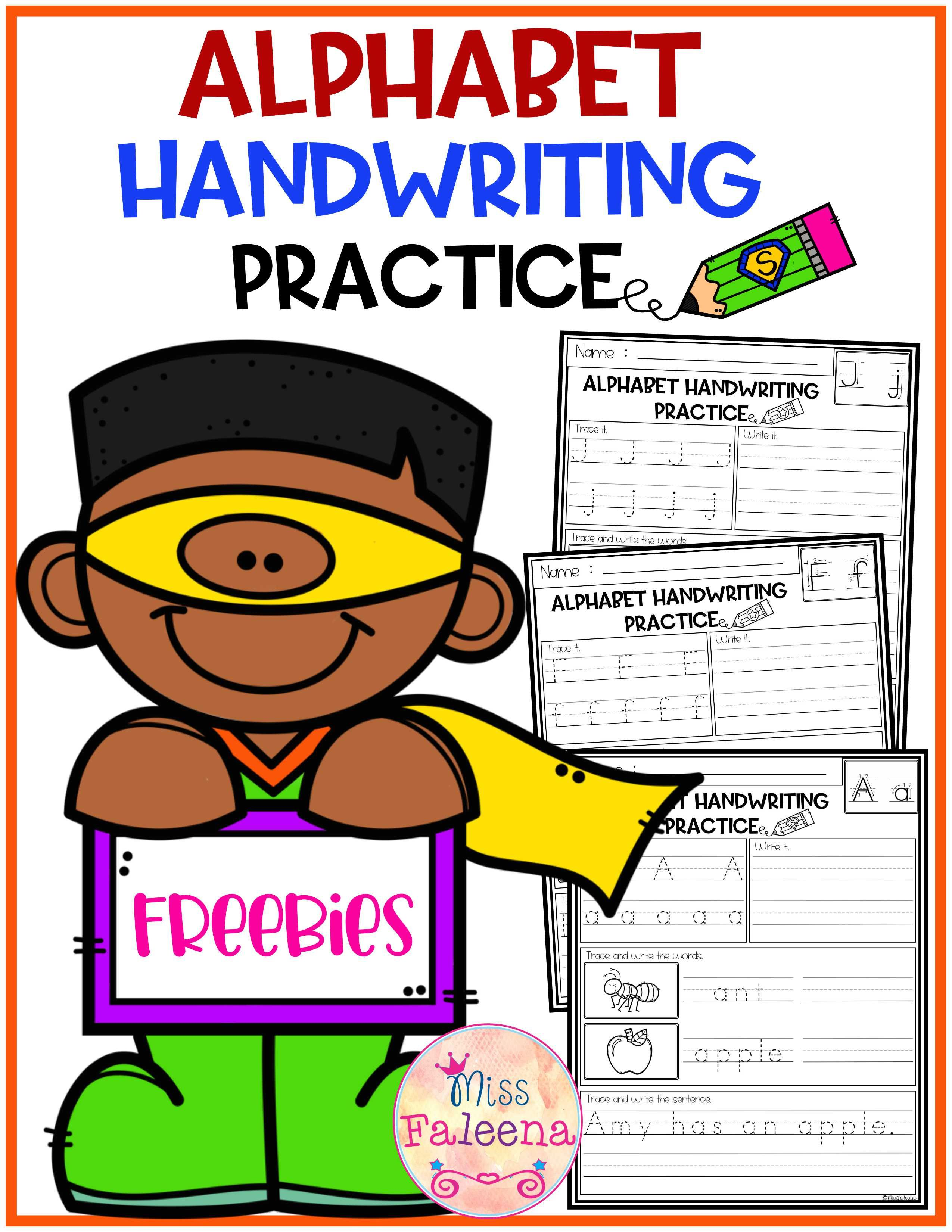 Free Alphabet Letters Handwriting Practice