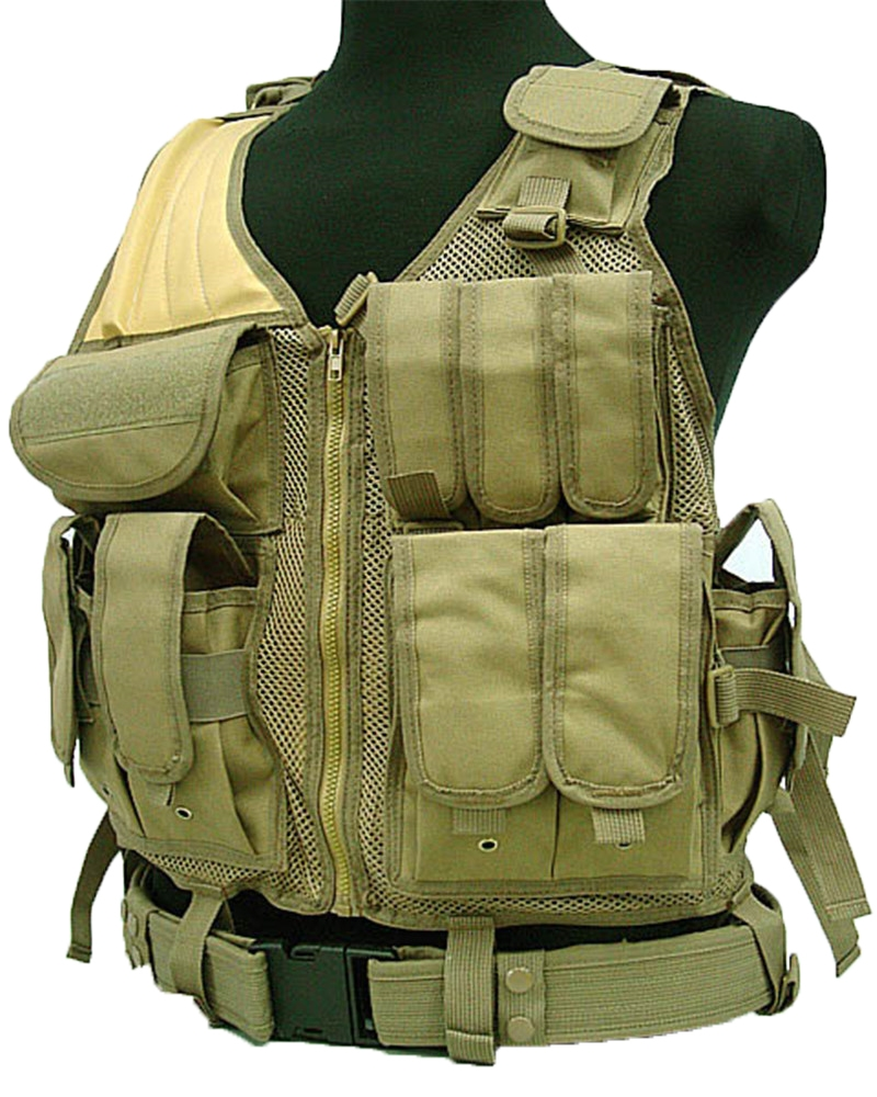 41.47$  Buy now - http://ali0hy.shopchina.info/go.php?t=32546669944 - Black Color Military Tactical Vest Paintball Army Gear MOLLE Carrier Airsoft Combat Hunting Vest 41.47$ #buyonlinewebsite